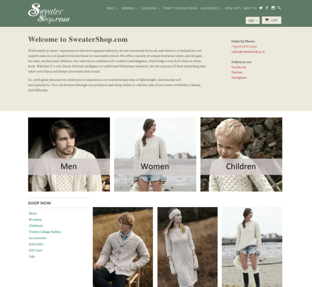 The Sweater Shop Website