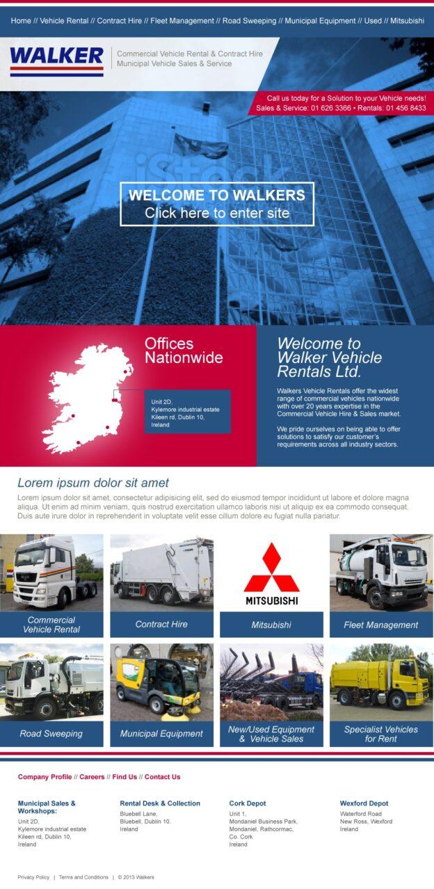 Walker Vehicle Rental Website