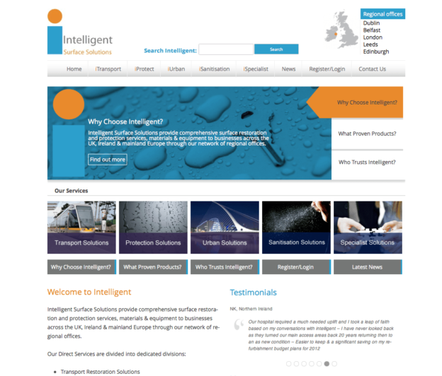 Intelligent Surface Solutions Website