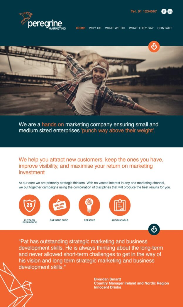 Peregrine Marketing Website