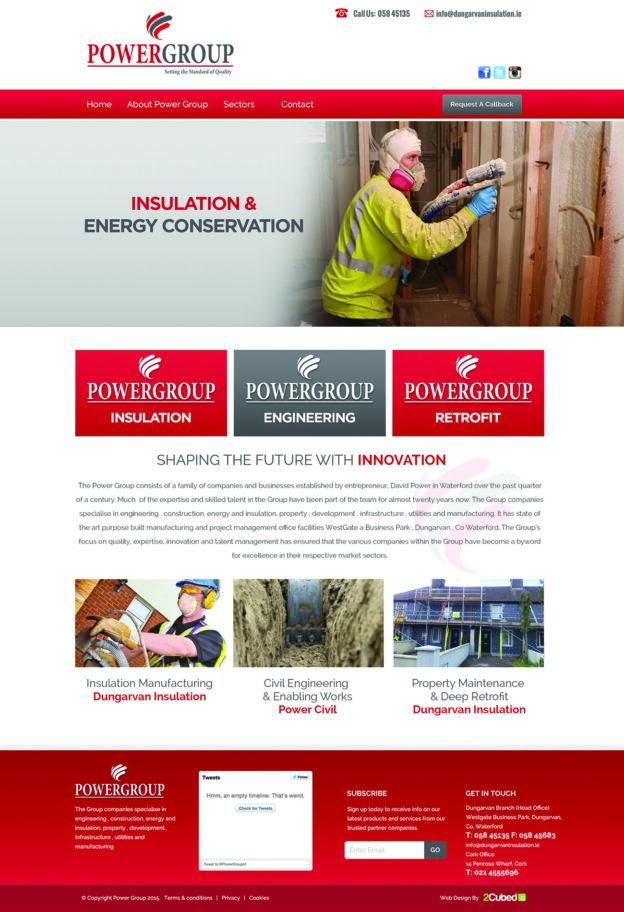 new website for Power Group