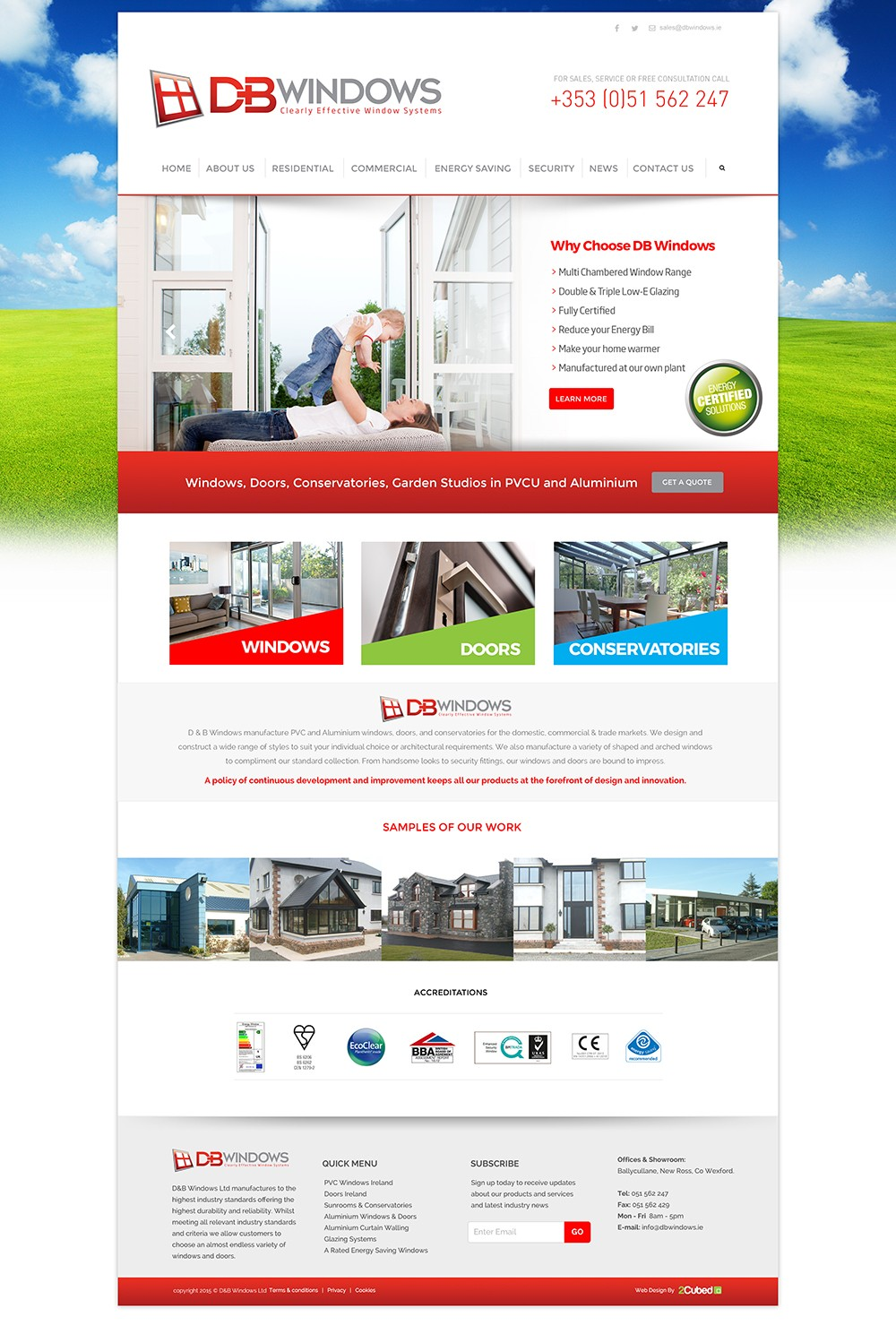 DB Windows Web Design Wexford