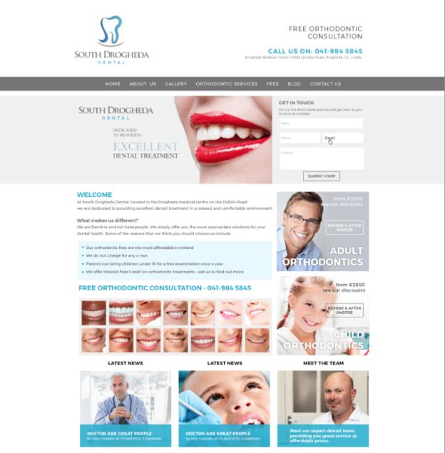 South Drogheda Dental Website
