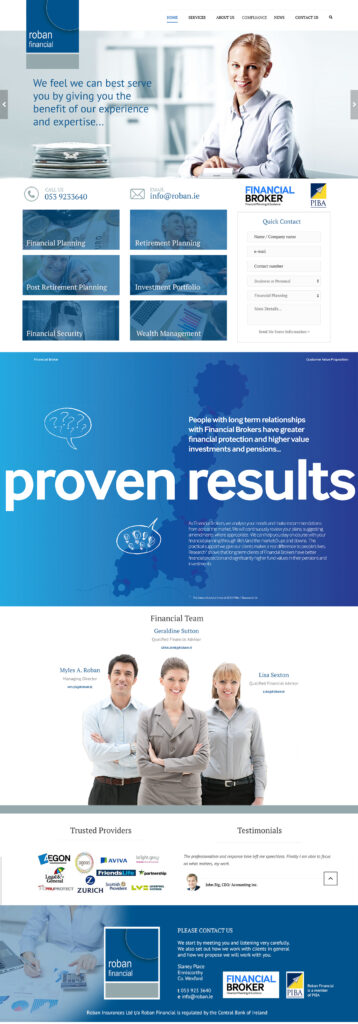 Roban Financial Website Design Wexford