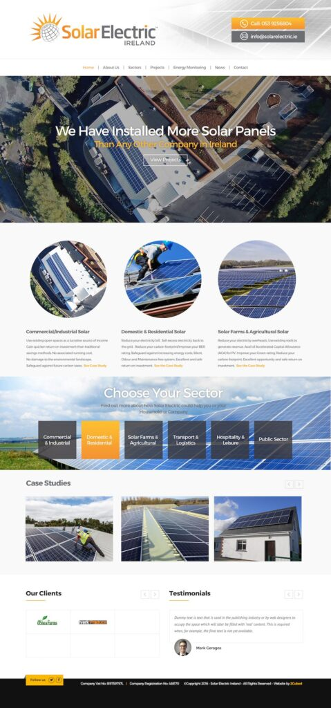 Website Designed - Solar Electric Site Revised 2