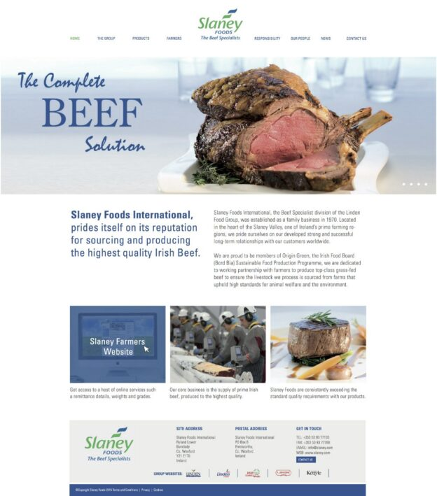 Slaney Foods Website