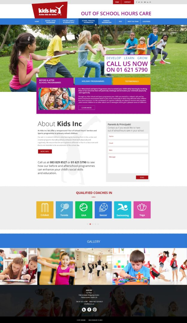 Kids Inc. After School Website