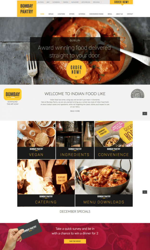 Bombay Pantry Website