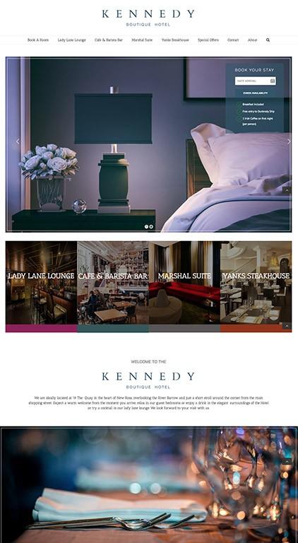 Kennedy Boutique Hotel Website