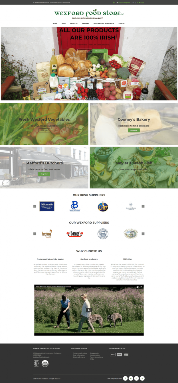 Wexford Food Store Website