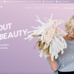 carter beauty website design fullpage