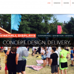 vinehall displays website design
