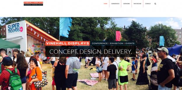 vinehall displays website design