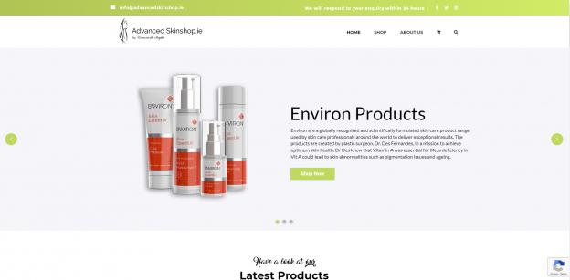 Advanced Skinshop Website Design