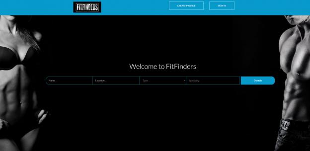 fitfinders website design