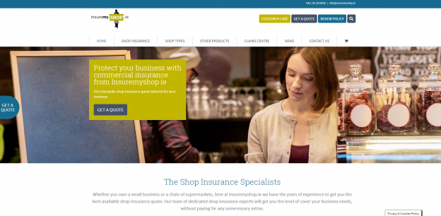 insure my shop website design