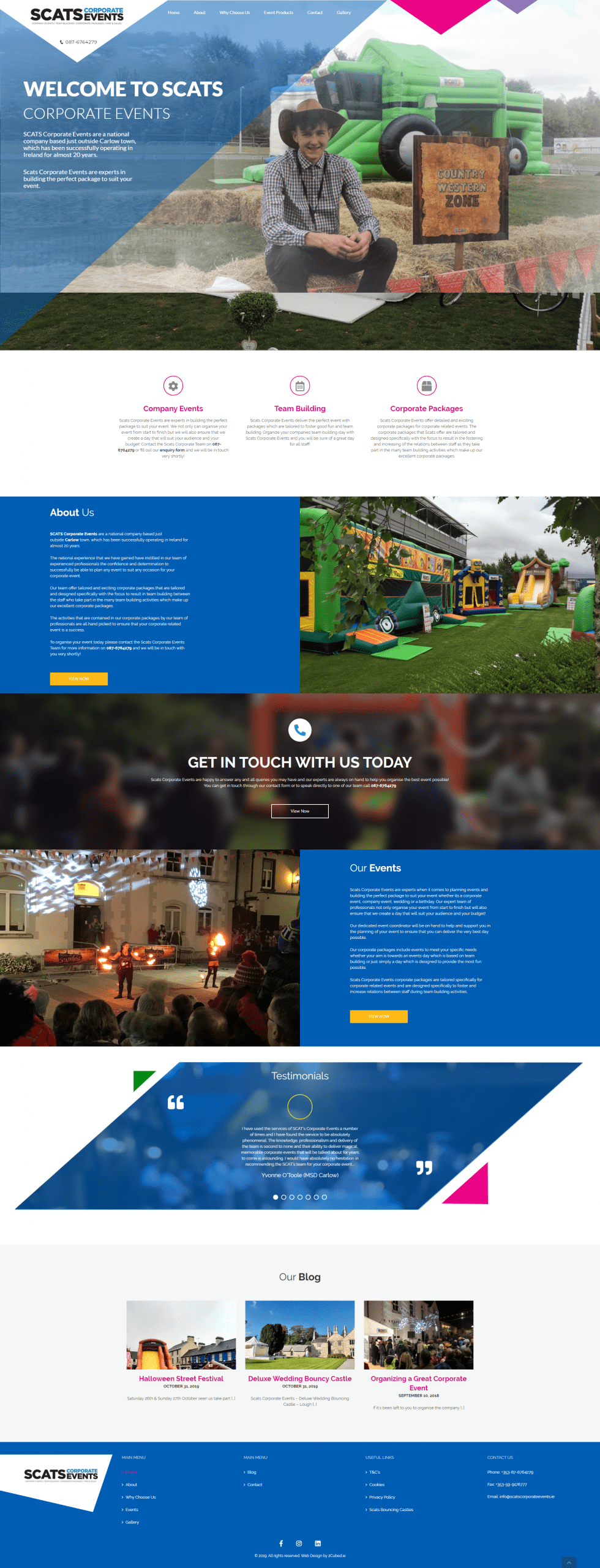 scats corporate events