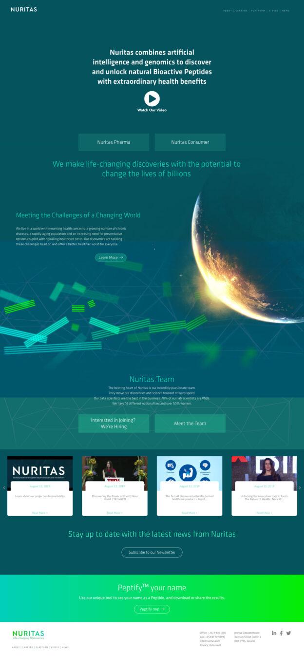 nuritas - web design dublin